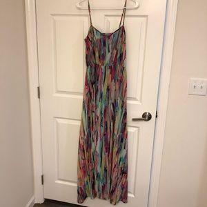 Water color chiffon maxi dress